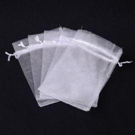 Organzos maišeliai. Baltos spalvos dydis 10x8 cm