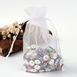 Organza bags, 10x8 cm, 5 pc., 1 package