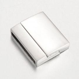 Metalinis magnetinis užsegimas su papildomu fiksavimu, 22x18x5 mm, 1 vnt