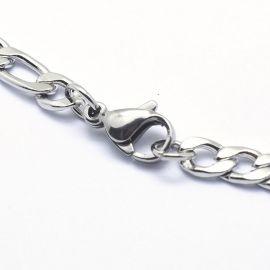 Nerūdijančio plieno 304 Chain with Clasp karabinu, 4 mm, 1 pc