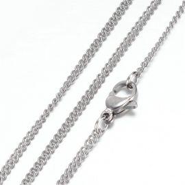 Nerūdijančio plieno 304 Chain with Clasp karabinu, 2 mm, 1 pc