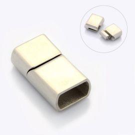 Nerūdijančio plieno 304 magnetinis užsegimas ištraukiamas per šoną. Nikelio spalvos dydis 25x14x8 mm rankdarbiams