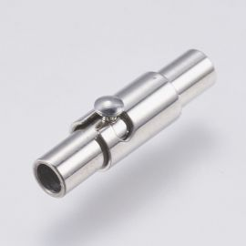 Stainless steel 304 magnetic clasp with additional locking, 15x4x4.5 mm, 2 pcs., 1 bag