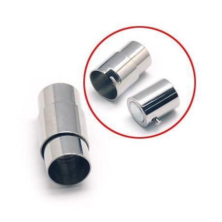 Nerūdijančio plieno 304 magnetinis užsegimas su papildomu fiksavimu. Platinos spalvos dydis 21x10 mm rankdarbiams