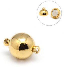 Nerūdijančio plieno 304 magnetinis užsegimas. Aukso spalvos dydis 14x10 mm