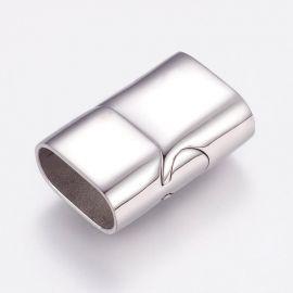 Nerūdijančio plieno 304 magnetinis užsegimas ištraukiamas per šoną. Nikelio spalvos dydis 20x14x8 mm