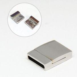 Nerūdijančio plieno 304 magnetinis užsegimas su papildomu fiksavimu, 23x17x6 mm, 1 vnt