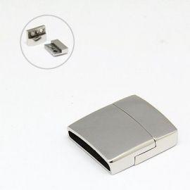 Nerūdijančio plieno 304 magnetinis užsegimas su papildomu fiksavimu. Nikelio spalvos dydis 23x21x6 mm