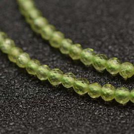 Natural peridoto beads, 2 mm, 1 strand