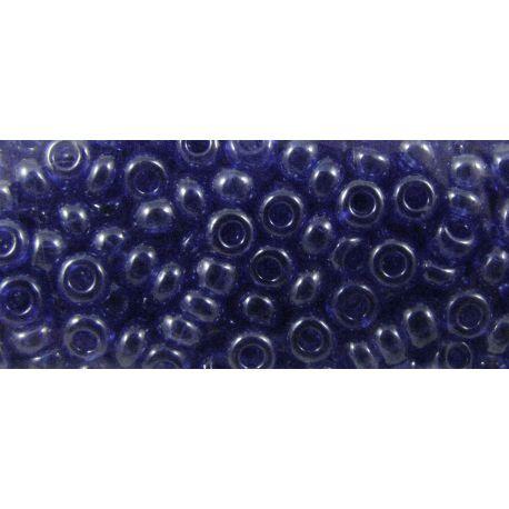 Čekiškas biseris 9/0 (2,6 mm) dydžio, 36060-9, mėlynos spalvos, blizgūs, apvalios formos 50g