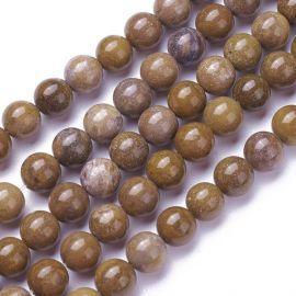 Natural Jaspio beads 8 mm 1 thread