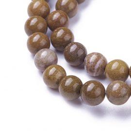 Natural Jaspio beads 6 mm 1 thread
