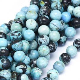 Natūralūs Mėlynojo Opalo karoliukai 10 mm 1 gija