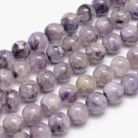 Natural Charoite beads 7-8 mm 1 strand
