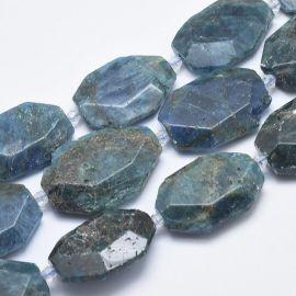 Natural Apatito beads - pendants 31-36x24-26x2-3 mm 1 pcs