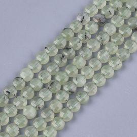 Natural Prehnito beads 6-6,5x3,5 mm 1 strand