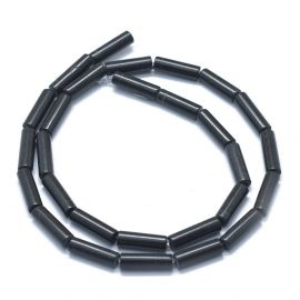 Natūralūs Juodojo akmens karoliukai 11-15x3,5-4,5 mm 1 gija