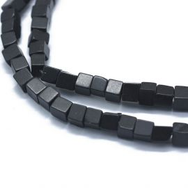 Natural Black stone beads 3-4,5x3-4,5x3-4,5 mm 1 strand