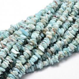 Natūrali Larimar skalda 5-14x4-10 mm 1 strand