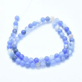 Natural Blue Chalcedony beads 6 mm 1 strand