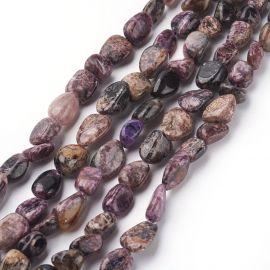 Natural Charoite beads 8-10 mm 1 strand