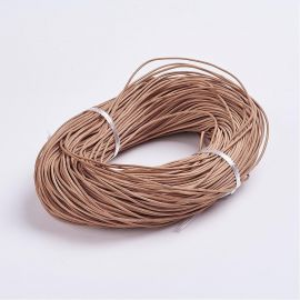 Natūralios leather cord, 2 mm., 1 m.