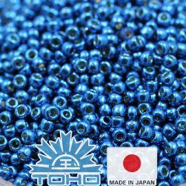 TOHO® Seed Beads Permafinish - Galvanized Turkish Blue TR-11-PF584 11/0 (2.2 mm) 10 g.