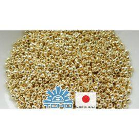 TOHO® Biseris PermaFinish - Galvanized Yellow Gold TR-11-PF559 11/0 (2,2 mm) 10 g.