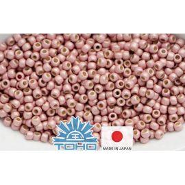 TOHO® Biseris PermaFinish - Matte Galvanized Peach Coral TR-11-PF552F 11/0 (2,2 mm) 10 g.
