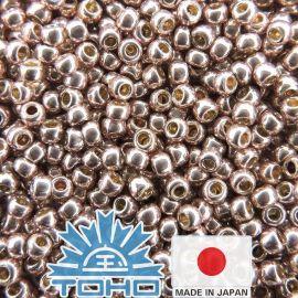TOHO® Biseris PermaFinish - Galvanized Sweet Blush TR-11-PF552 11/0 (2,2 mm) 10 g.