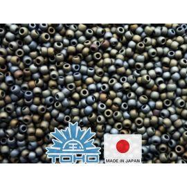 TOHO® Biseris Frosted Metallic Iris - Brown 11/0 (2,2 mm) 10 g.