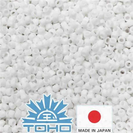 TOHO® Biseris Matte-Color Opaque-Rainbow White TR-11-761 11/0 (2,2 mm) 10 g.