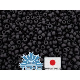 TOHO® Biseris Opaque-Frosted Jet TR-11-49F 11/0 (2,2 mm) 10 g.