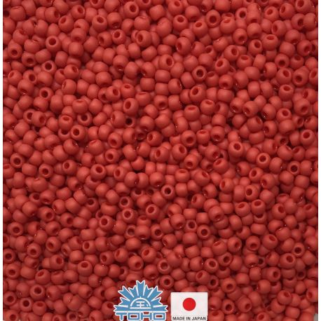 TOHO® Biseris Opaque-Frosted Pepper Red TR-11-45F 11/0 (2,2 mm) 10 g.