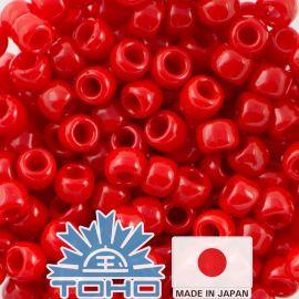 TOHO® Seed Beads Opaque Cherry TR-11-45A 11/0 (2,2 mm) 10 g.