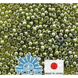 TOHO® Biseris Gold-Lustered Green Tea TR-11-457 11/0 (2,2 mm) 10 g.