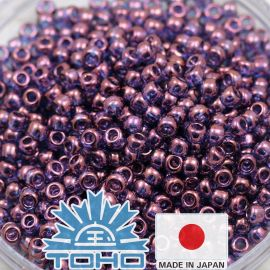 TOHO® Biseris Gold-Lustered Amethyst 11/0 (2,2 mm) 10 g.