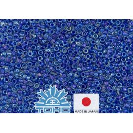 TOHO® Biseris Inside-Color Luster Crystal/Caribbean Blue-Lined TR-11-189 11/0 (2,2 mm) 10 g.