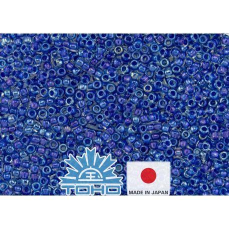 TOHO® Biseris Inside-Color Luster Crystal/Caribbean Blue-Lined TR-11-189 11/0 (2,2 mm) 10 g.