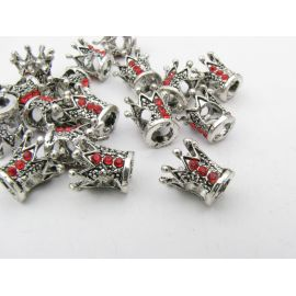 "Insert – bead ""Crown"" 10x10 mm, 1 pcs."