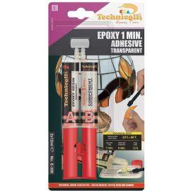 Epoxy clear 1 min. glue Techniqll E-358 2x12ml, 1 pack