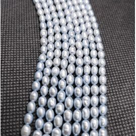 Natural Freshwater Pearls Class A 5.5-6x4-4.5 mm. ,1 thread