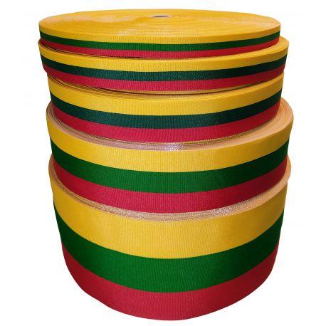 Lietuviška tautinė trispalvės juostelė, 100 mm pločio, 1 metras