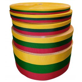 Lietuviška tautinė trispalvės juostelė, 15 mm pločio, 1 metras