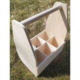 Medinė dėžutė su rankena alui 32x24,5x12 cm