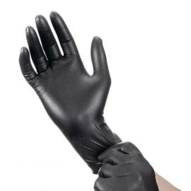 Disposable Nitrile gloves size M, black powder-free without powder - 10 pairs
