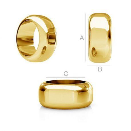Paauksuotas intarpas - žiedas 925 8,3x3,5 mm. 1 vnt.