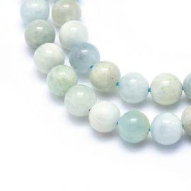 Natural Aquamarine beads 8-8.5 mm., 1 thread