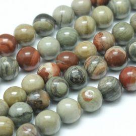 Natural Jaspio beads 4 mm., 1 thread