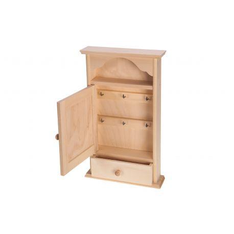 Medinė dėžutė raktams su stalčiuku 36x22x6 cm
